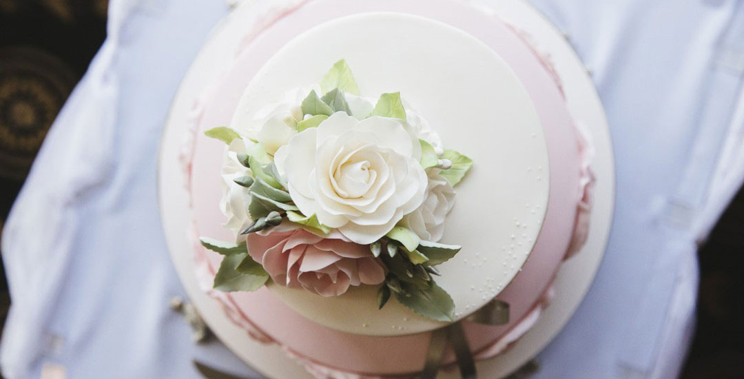 Wedding cake top view